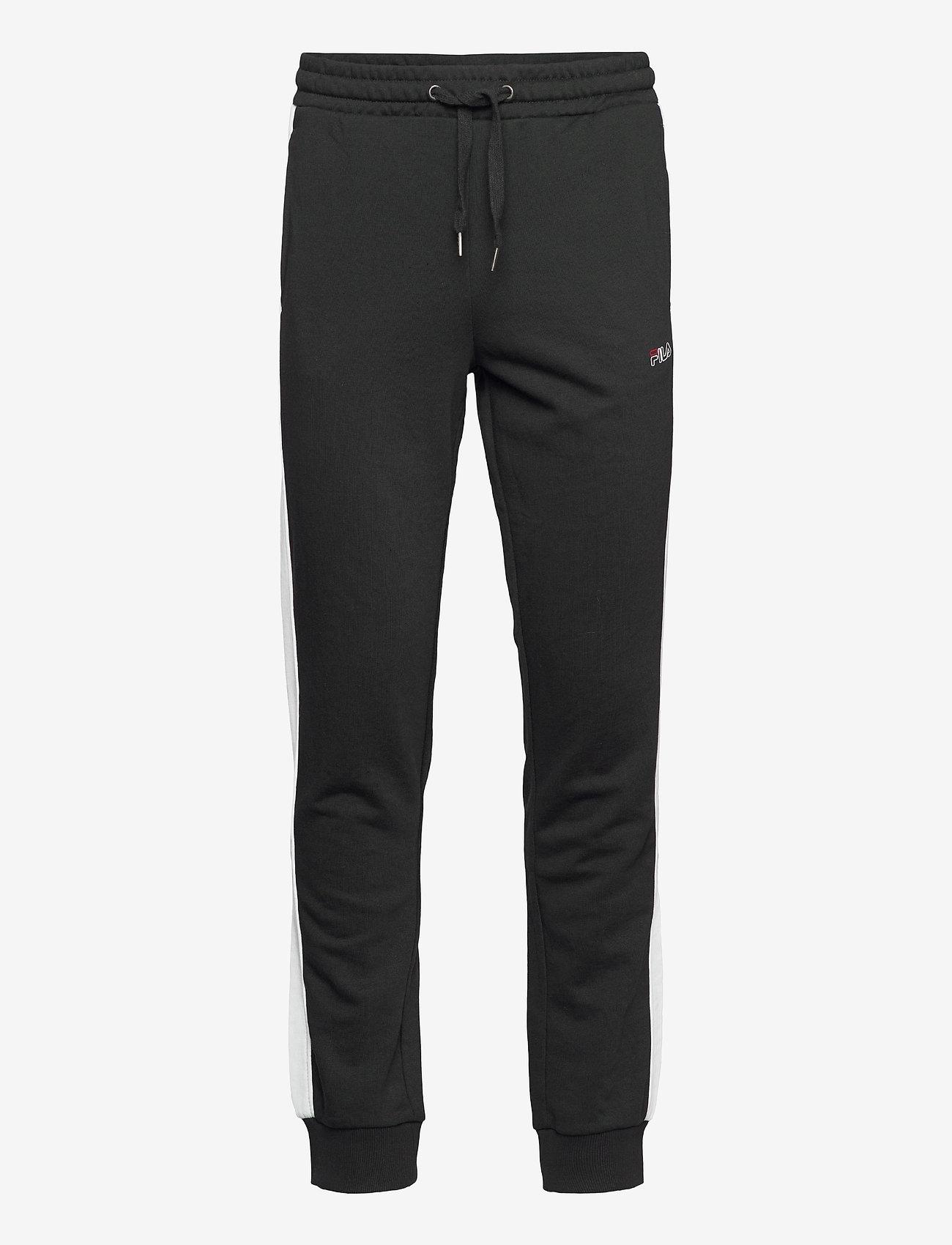 FILA - MEN LUI sweat pants - treenihousut - black-bright white - 0