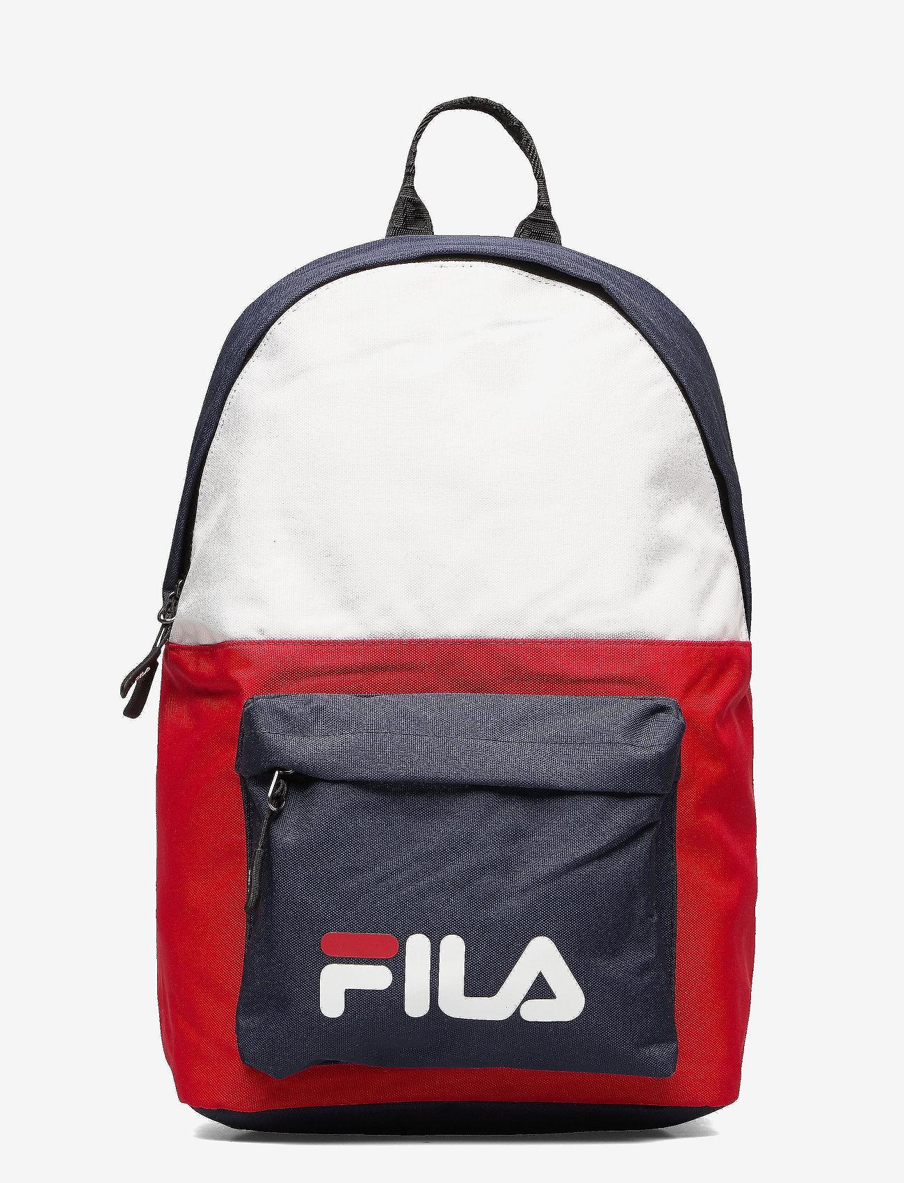 FILA - NEW BACKPACK S´COOL TWO - rugzakken - black iris-true red-bright white - 0