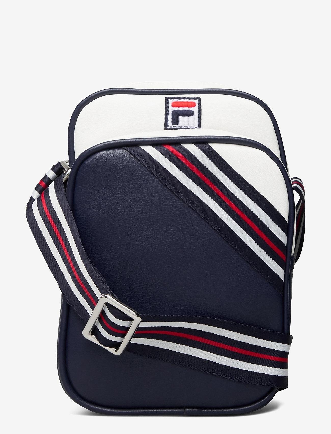 FILA - HERITAGE PUSHER BAG - sacs à bandoulière - black iris-bright white-true red - 0
