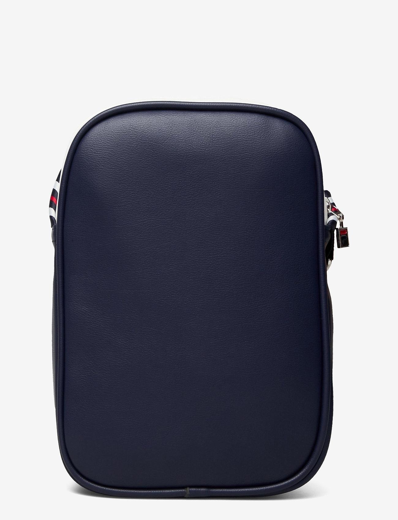 FILA - HERITAGE PUSHER BAG - sacs à bandoulière - black iris-bright white-true red - 1