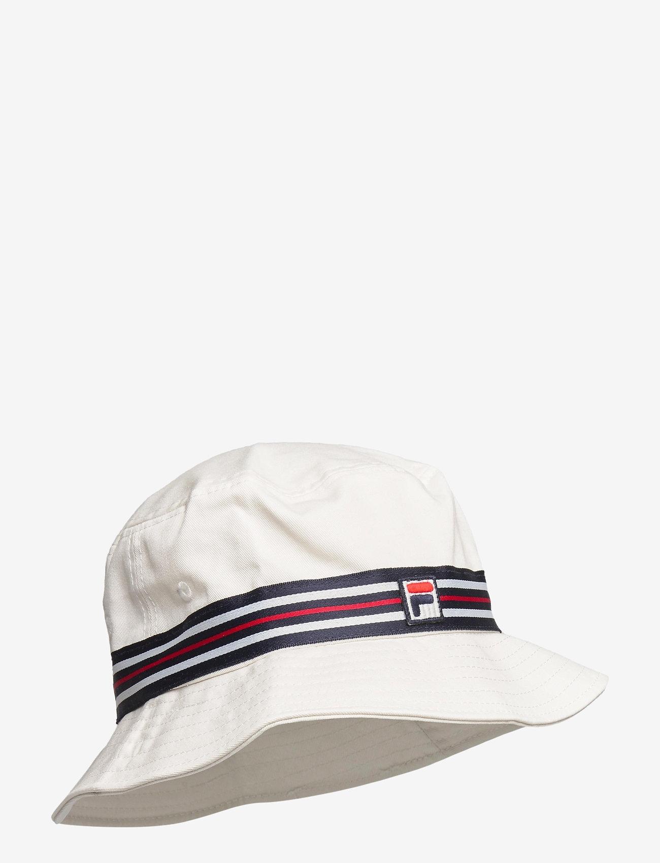 FILA - BUCKET HAT with heritage tape - bucket hats - blanc de blanc - 0