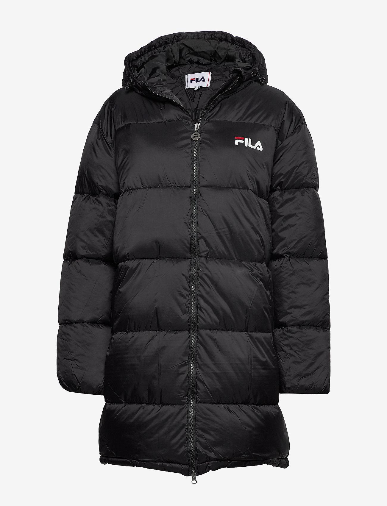 FILA - WOMEN BRONWEN puff hood jacket - wyściełane płaszcze - 002 - black - 0