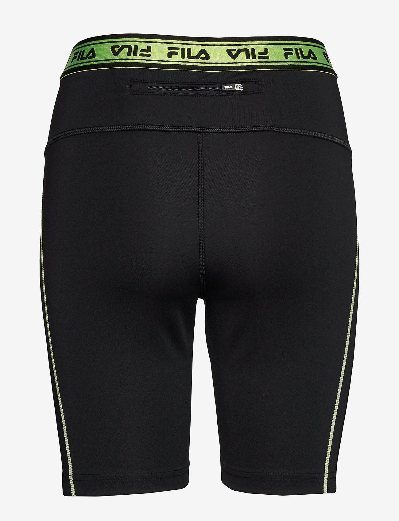 FILA WOMEN ULAN short leggings - Szorty BLACK - Kobiety Odzież.