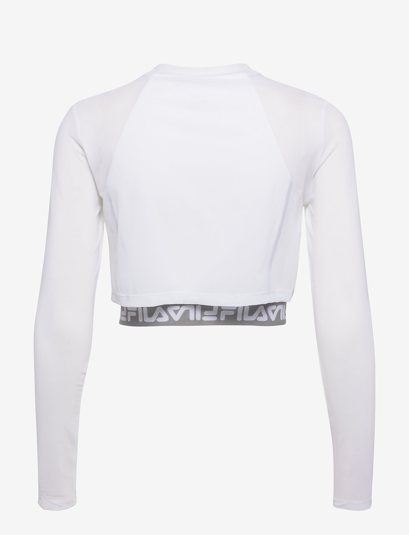 Women Magenta Cropped Double Layer Top (Bright White) (455 kr) - FILA