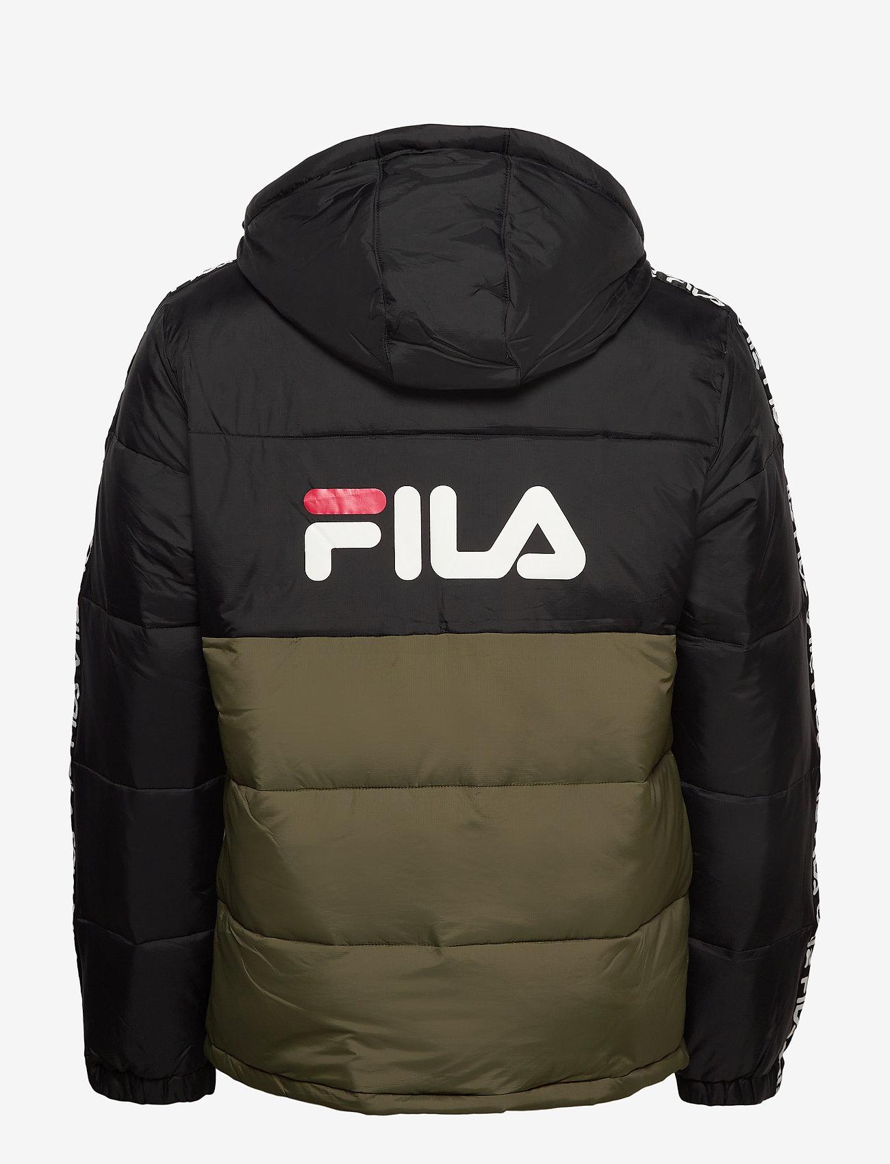 FILA - MEN TANNER tape puffer jacket - veste sport - grape leaf-black - 1