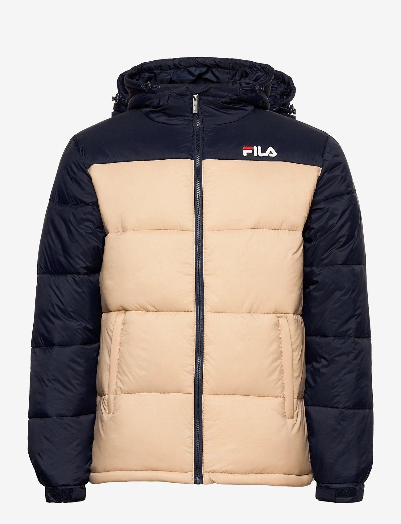 FILA - SCOOTER puffer jacket - veste sport - irish cream-black iris - 1