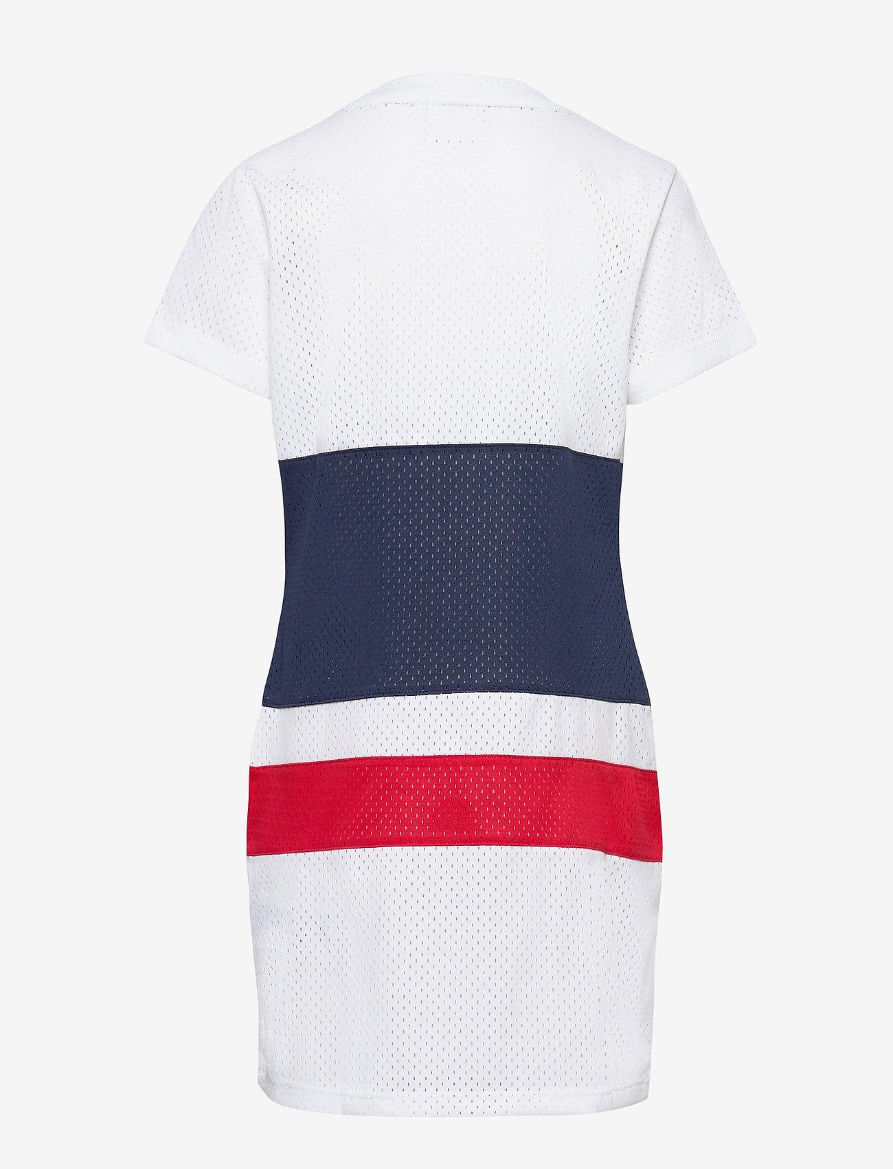 FILA - KIDS TRIXIE tee dress - kjoler - bright white-black iris-true red - 1