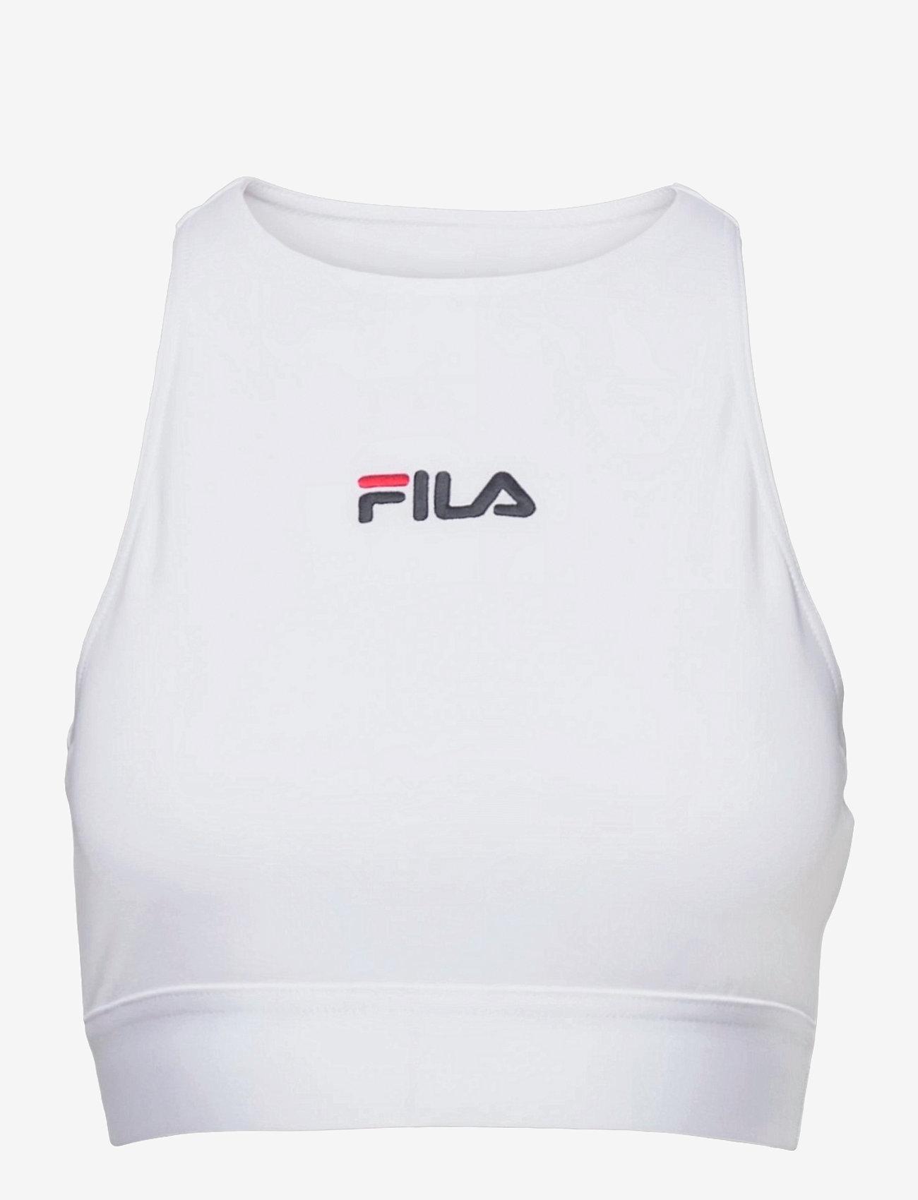 FILA - WOMEN ELITA top - crop tops - bright white - 0