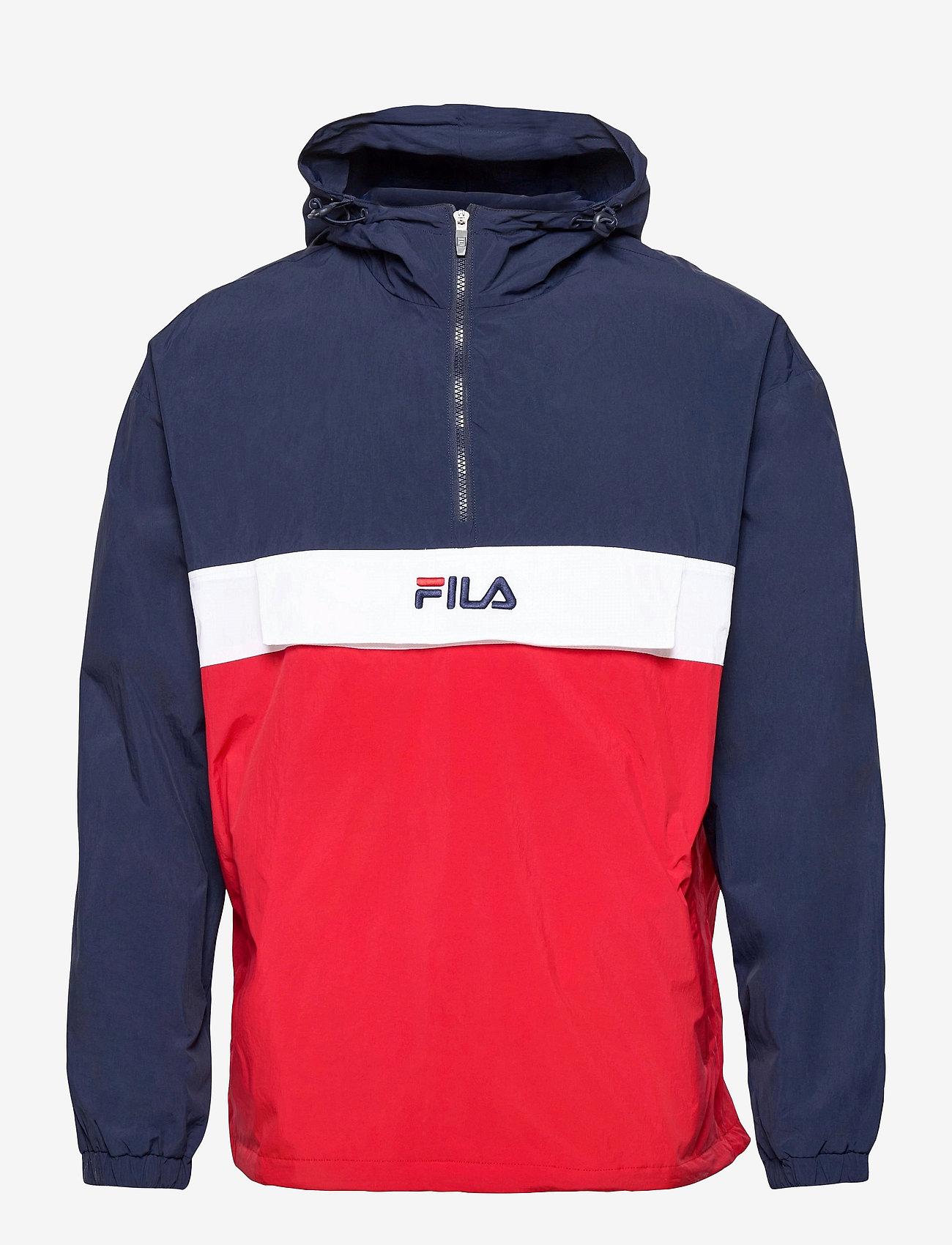 FILA - MEN ELMO woven anorak - anoraks - black iris-true red-bright white - 0