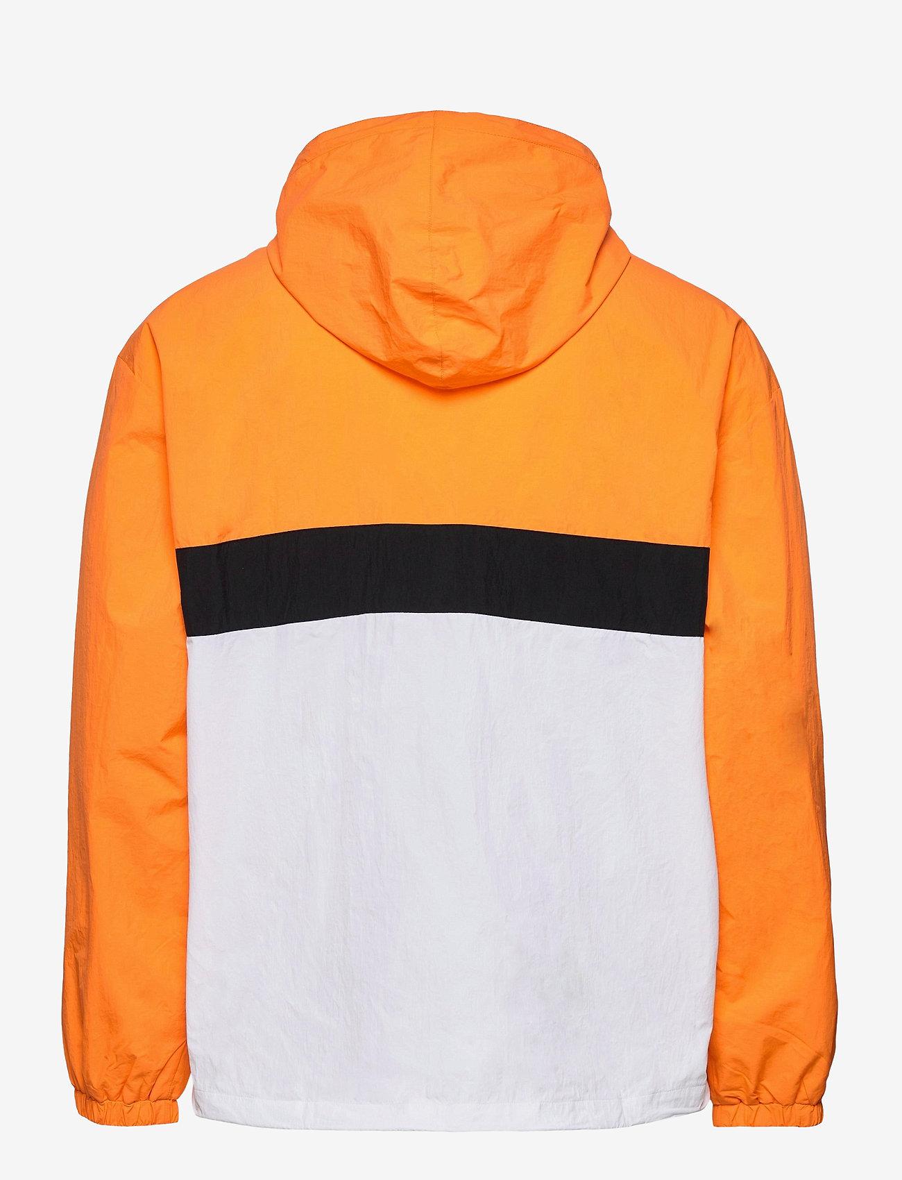 FILA - MEN ELMO woven anorak - anoraks - flame orange-bright white-black - 1