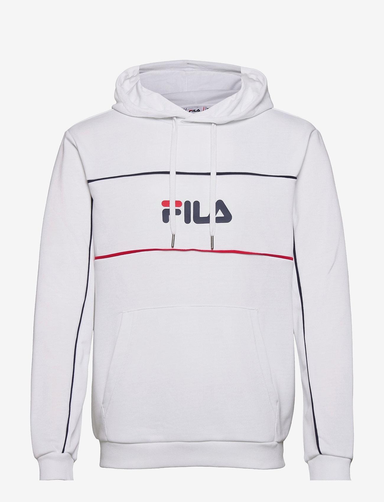 FILA - MEN ANALU blocked hoody - pulls a capuche - bright white - 0