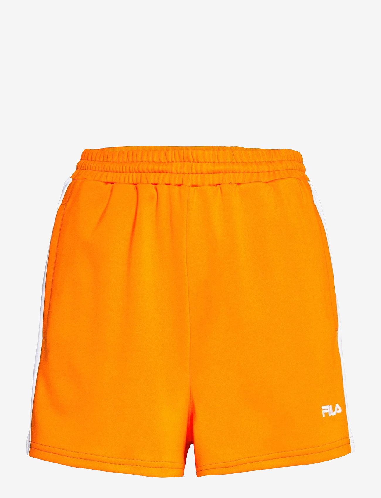FILA - WOMEN ALLETE high waist shorts - chaussures de course - flame orange-bright white - 0