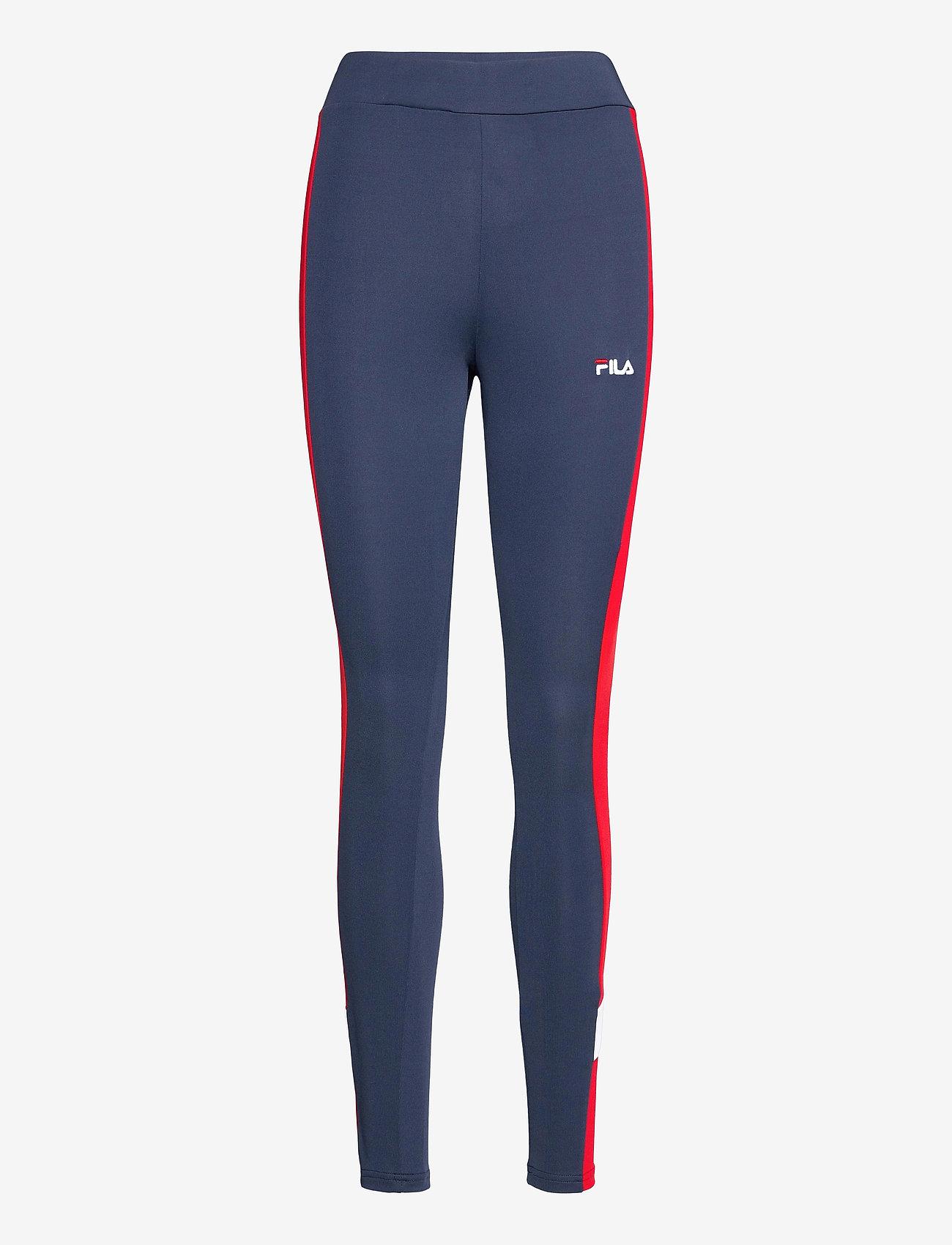 FILA - WOMEN ALYA blocked tights - collants d'entraînement - black iris-true red-bright white - 0