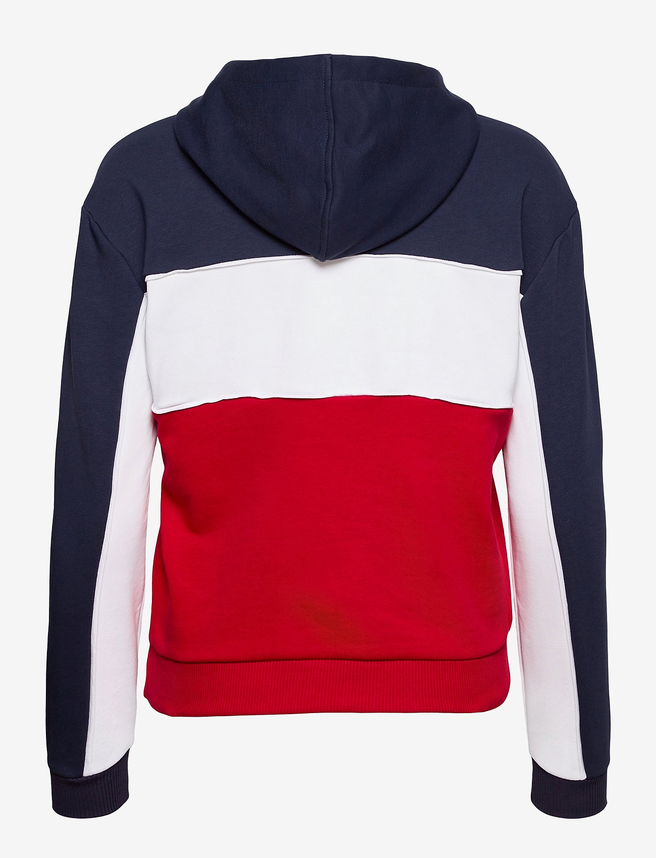 FILA - WOMEN AQILA blocked hoody - hættetrøjer - true red-black iris-bright white - 1