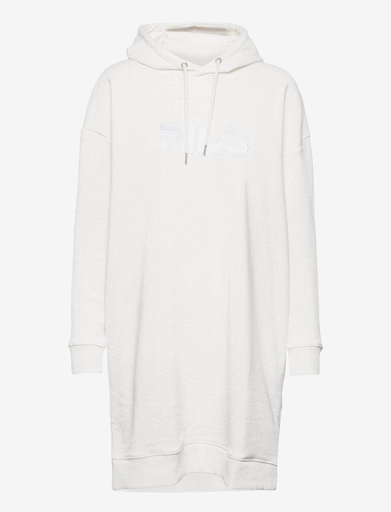 FILA - WOMEN FELICE oversized hoody dress - robes de jour - blanc de blanc - 0