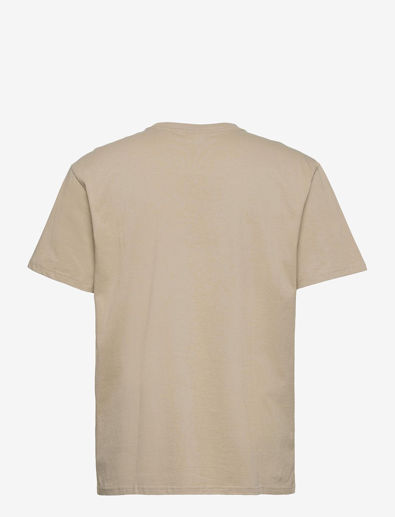 FILA - MEN FONDA oversized dropped shoulder tee - t-shirts - oxford tan - 1