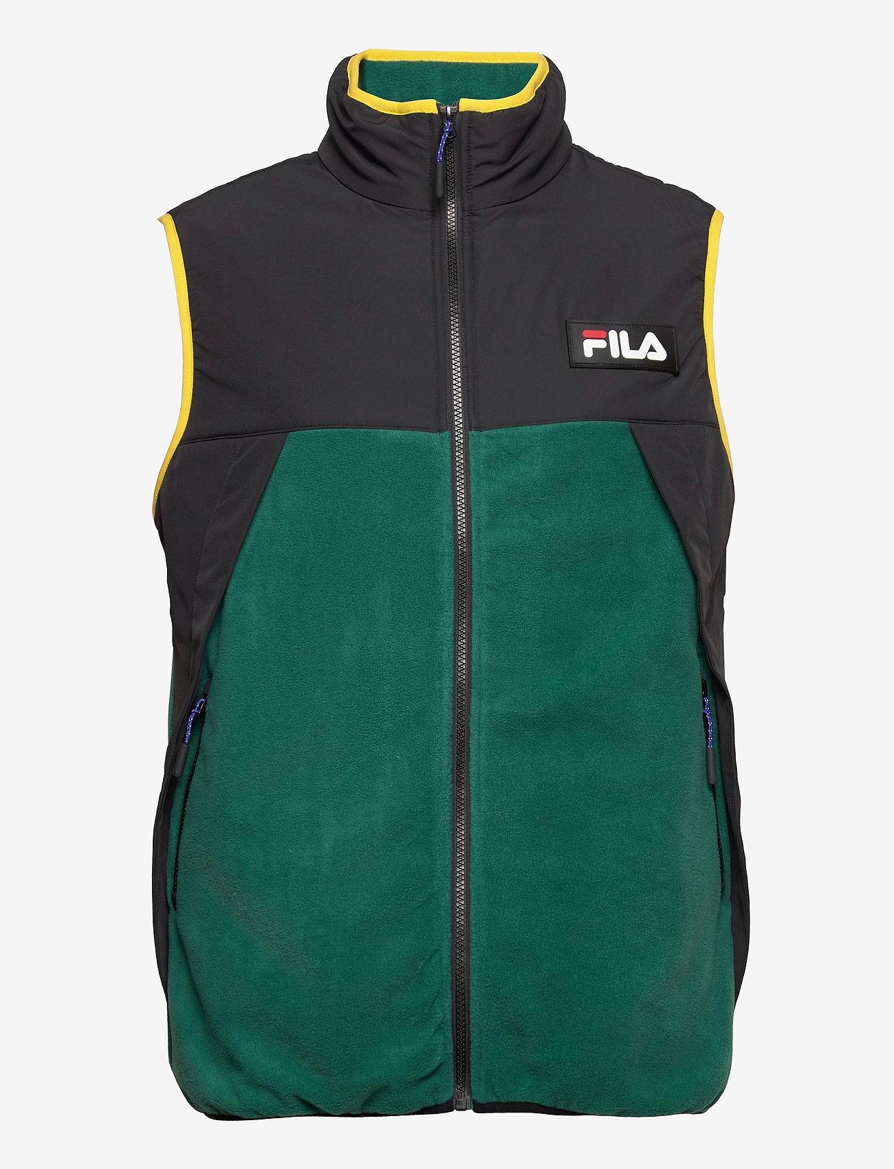 FILA - MEN CIAR fleece vest - veste sport - storm-black - 0