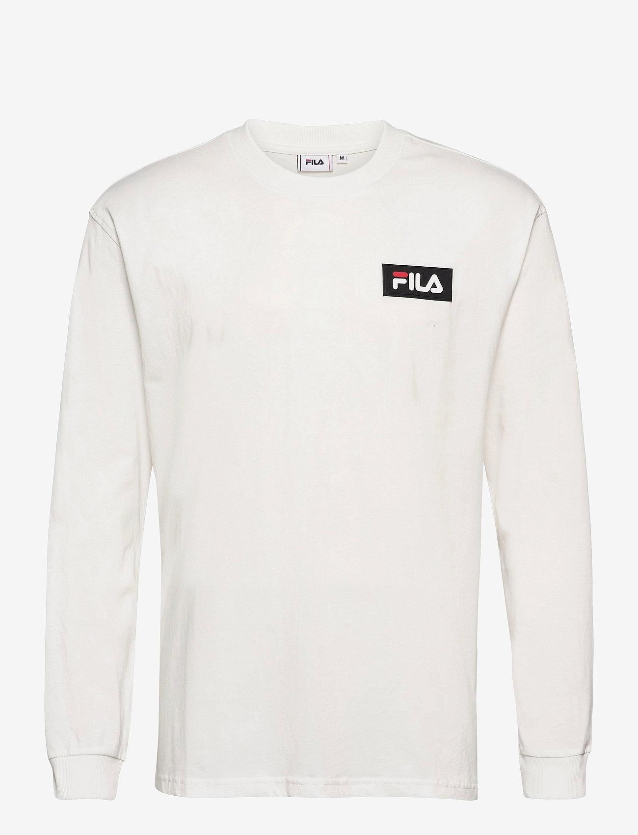 FILA - MEN CICERO long sleeve shirt - sweats - blanc de blanc - 0