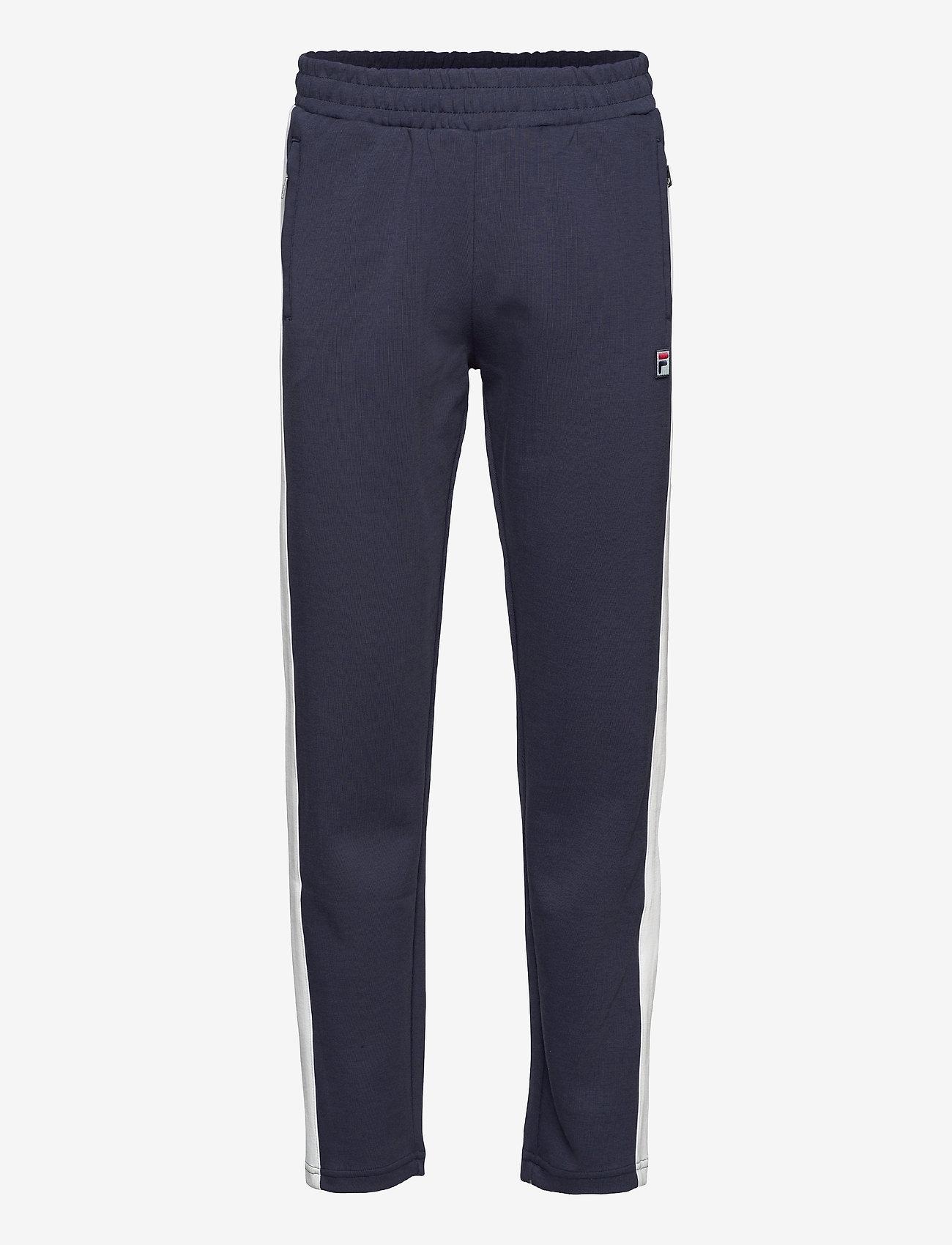 FILA - MEN SETTANTA track pants - treenihousut - black iris-blanc de blanc - 0