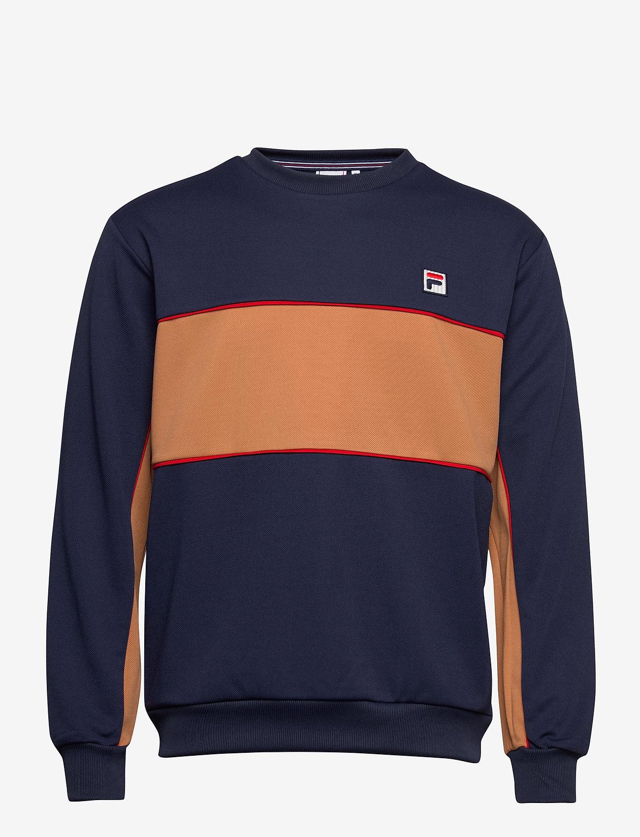 FILA - MEN HAVERD crew shirt - sweats - black iris-hazel - 0