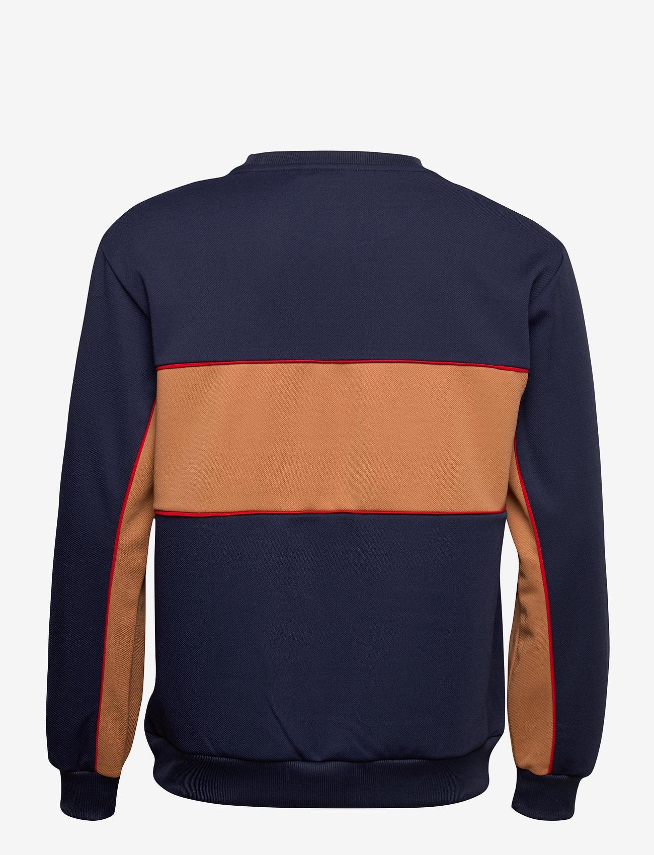 FILA - MEN HAVERD crew shirt - sweats - black iris-hazel - 1