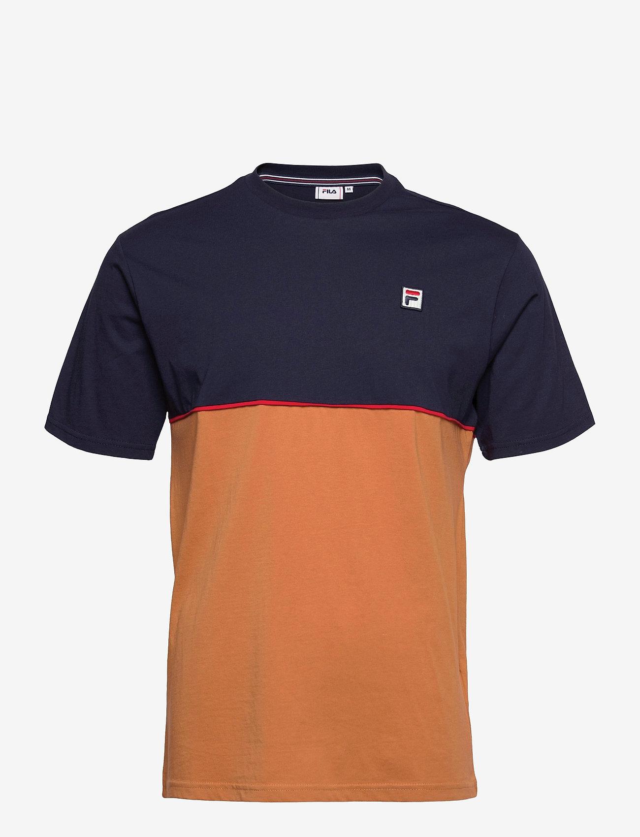 FILA - MEN HAVERD tee - t-shirts - black iris-hazel - 0