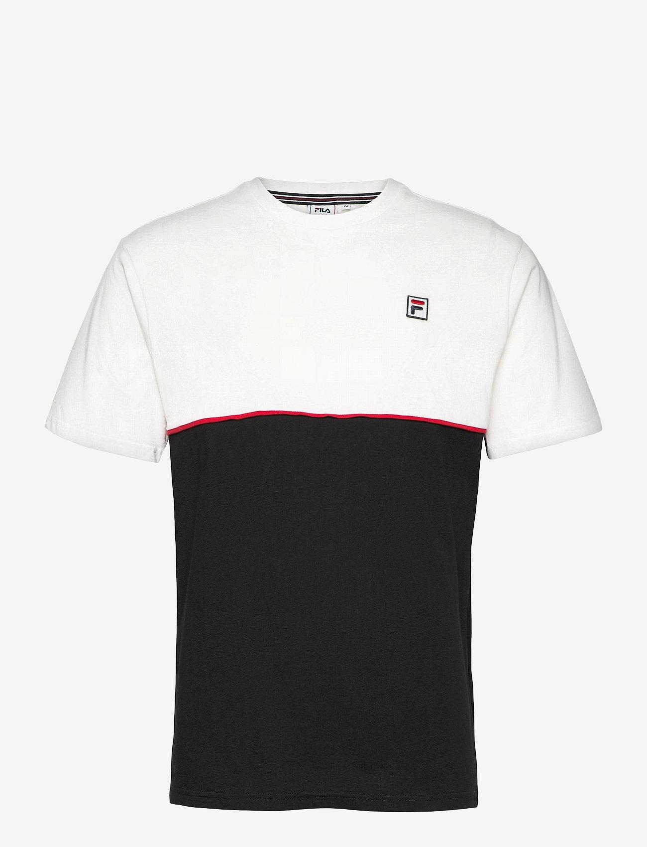 FILA - MEN HAVERD tee - t-shirts - blanc de blanc-black - 0