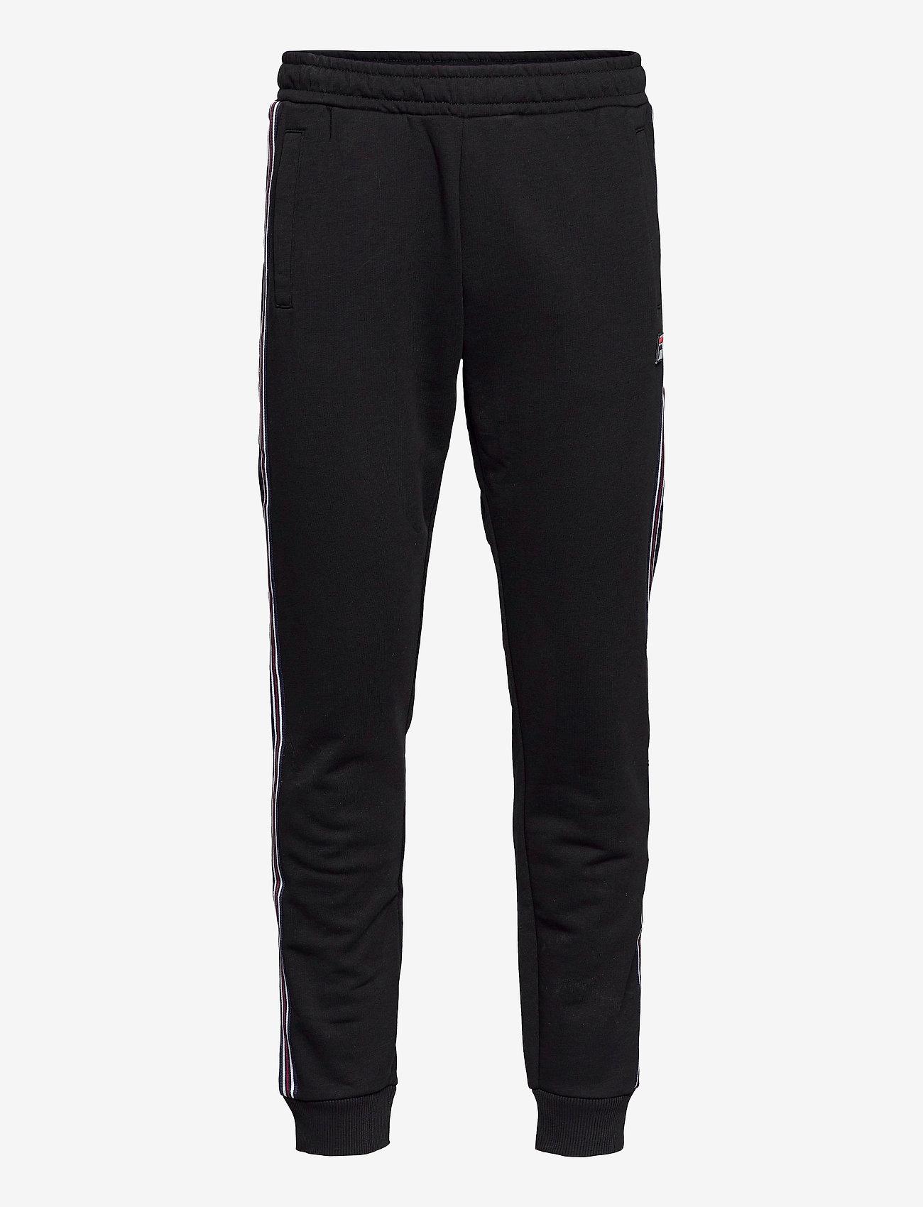 FILA - MEN HEMI track pants - treenihousut - black - 0
