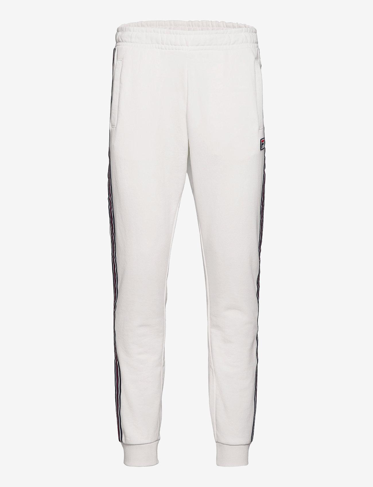FILA - MEN HEMI track pants - treenihousut - blanc de blanc - 0