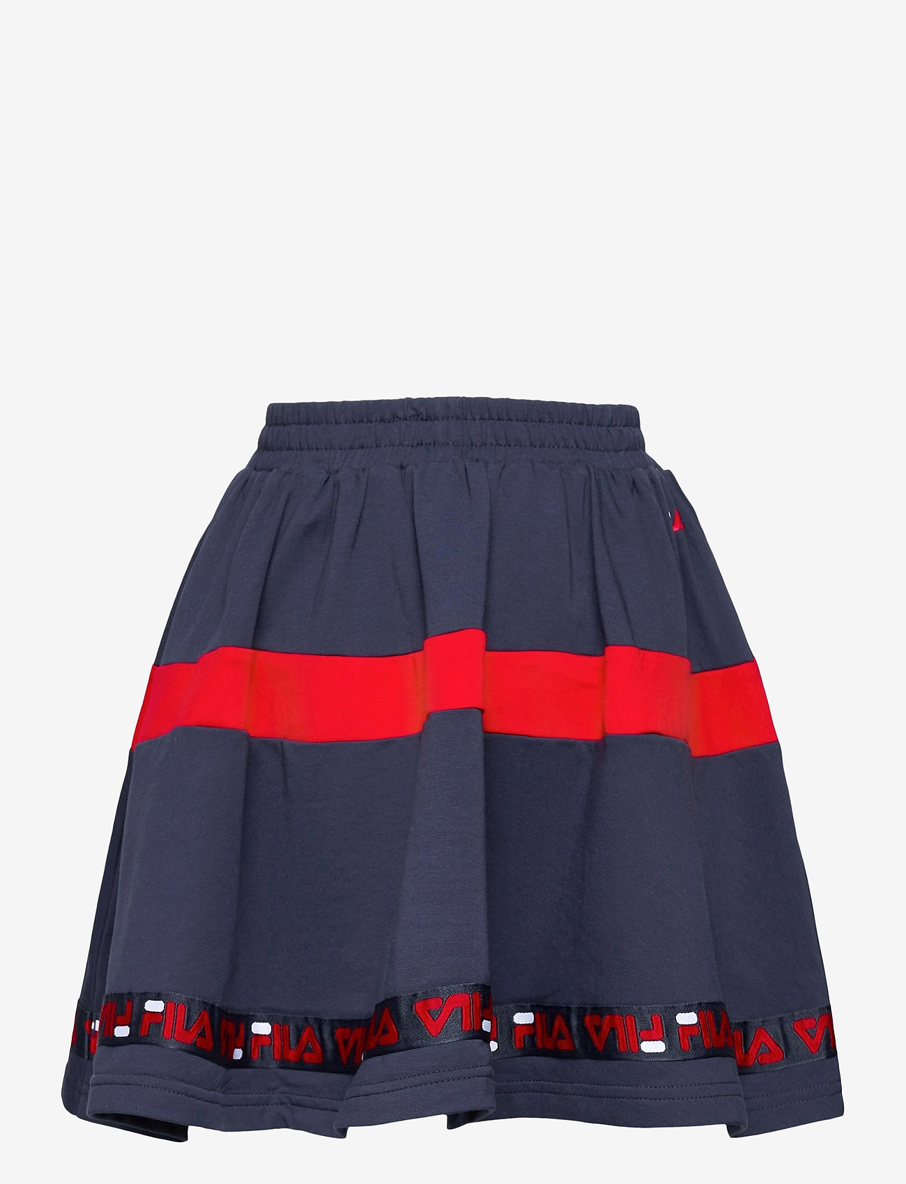 FILA - KIDS GIRLS CURLY taped sweat skirt - röcke - black iris-true red - 1