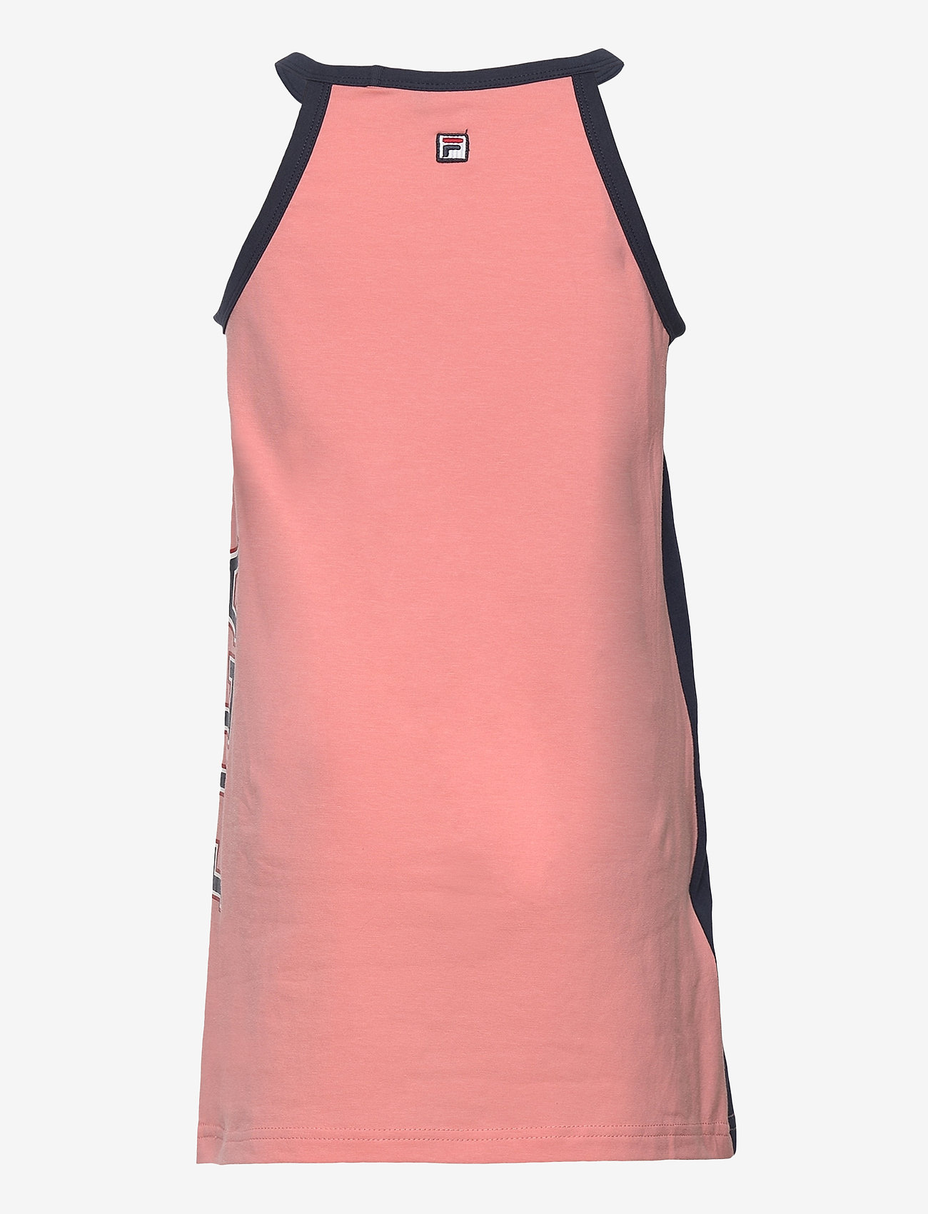 FILA - KIDS GIRLS CARMEN tank dress - kleider - conch shell-black iris - 1