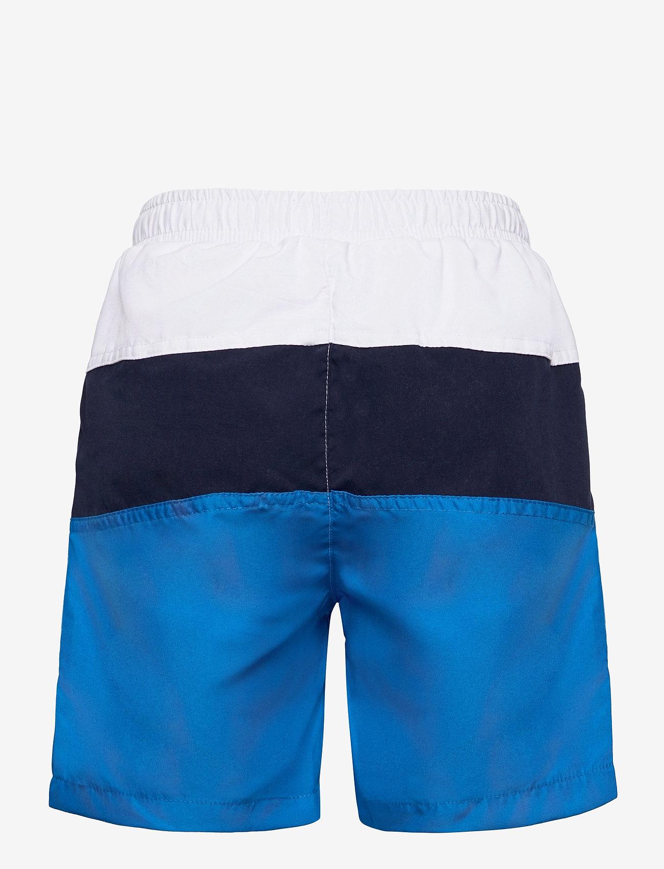 FILA - KIDS BOYS NICOLO swim shorts - bademode - skydiver-black iris-bright white - 1