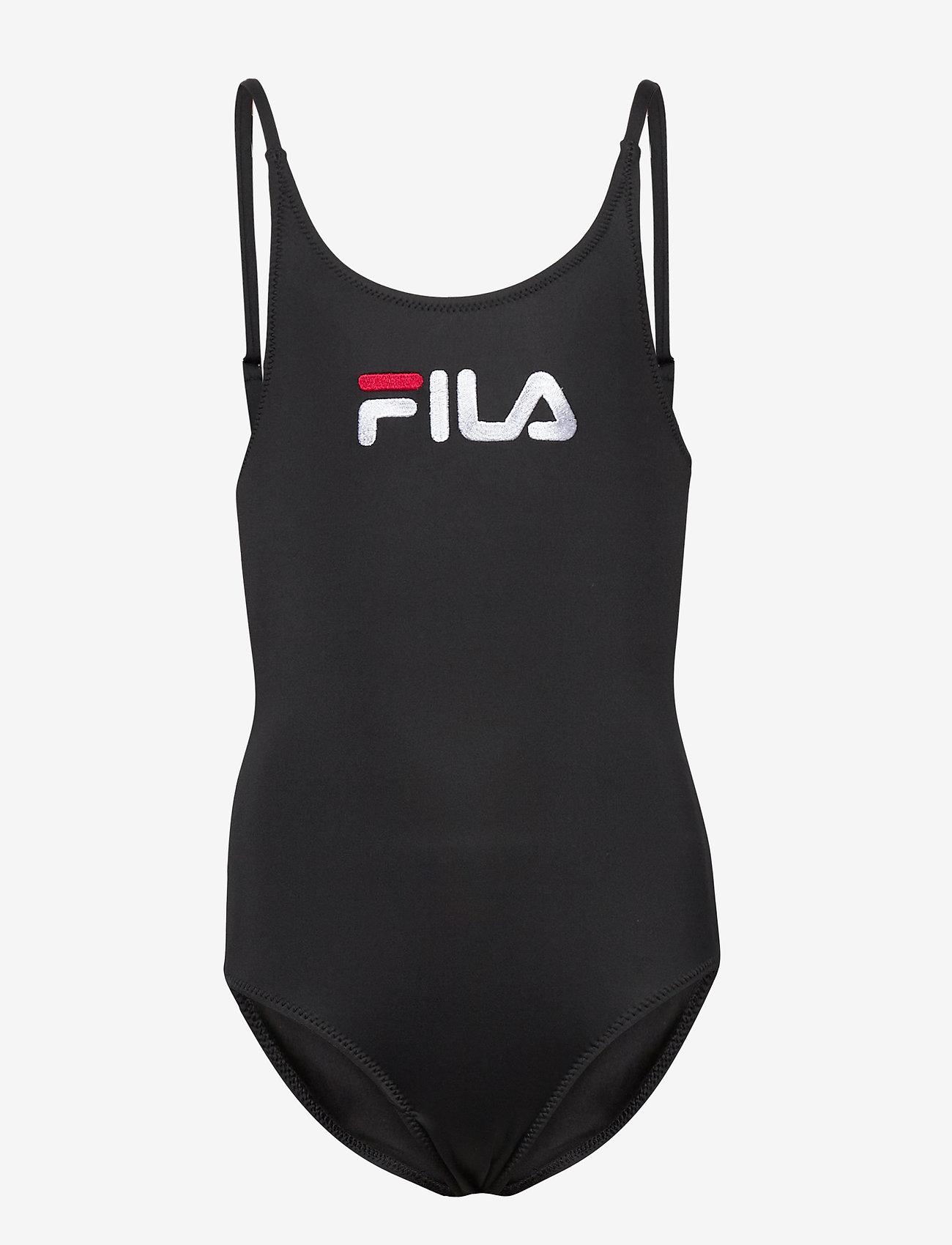 FILA - TEENS GIRLS CAROL swim suit - swimsuits - black - 0