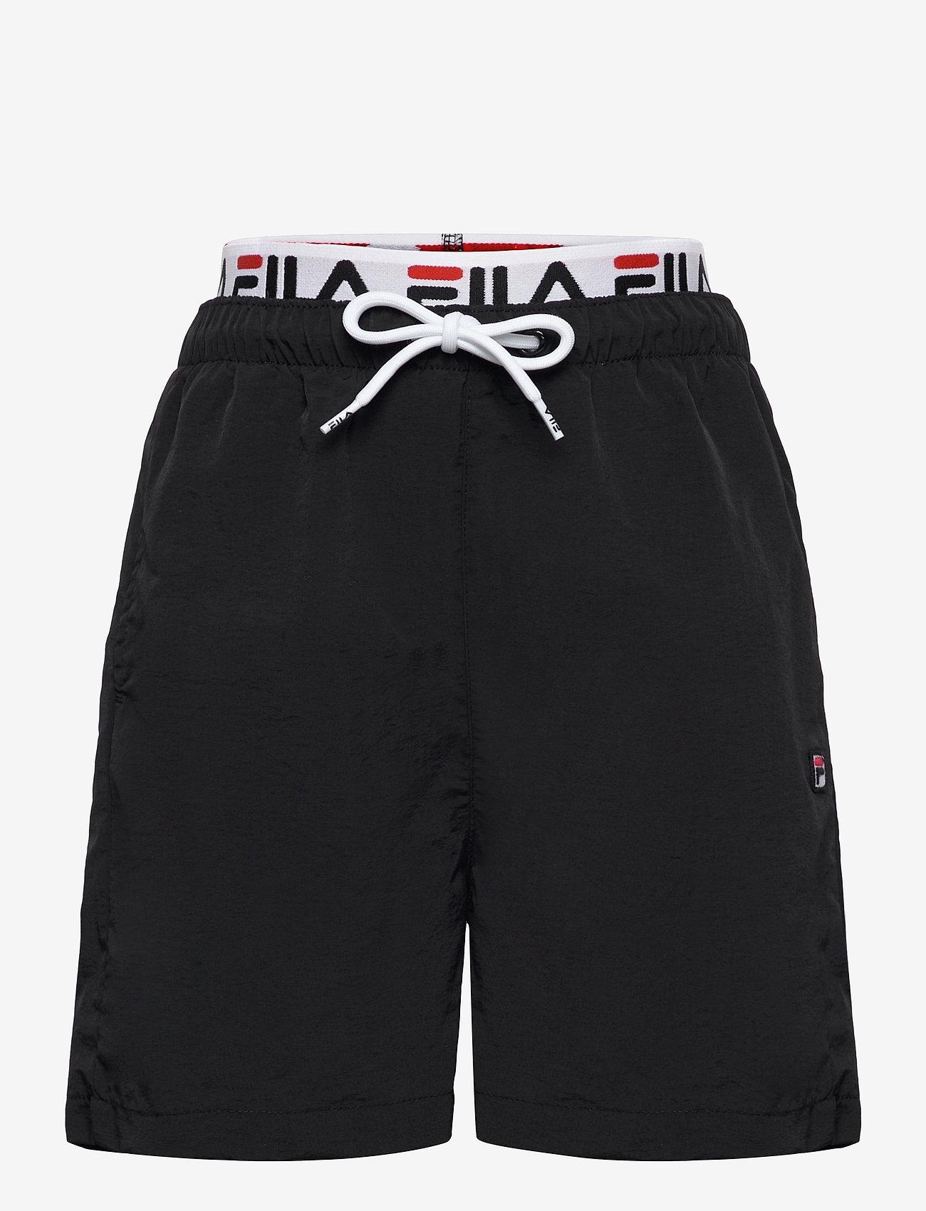 FILA - TEENS BOYS RENE swim shorts - bademode - black - 0