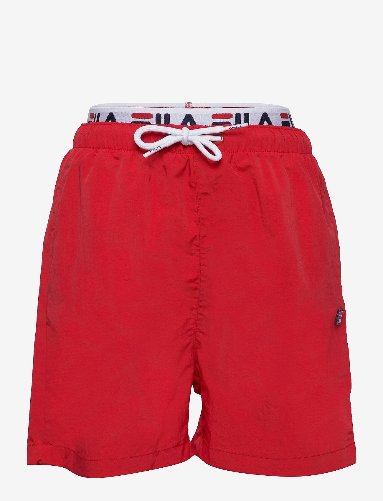 FILA - TEENS BOYS RENE swim shorts - bademode - true red - 0