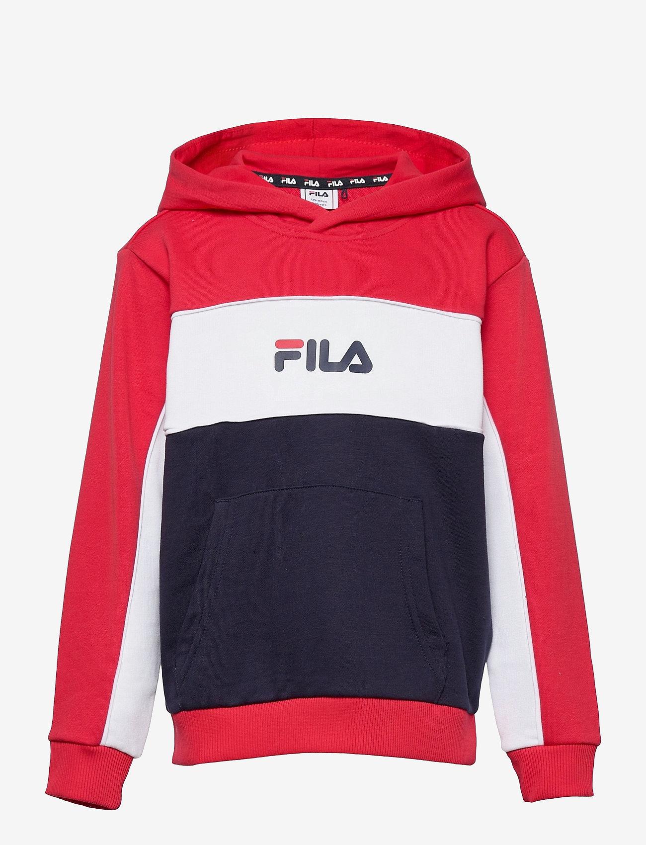 FILA - TEENS GIRLS TRACY hoody - hoodies - black iris-true red-bright white - 0