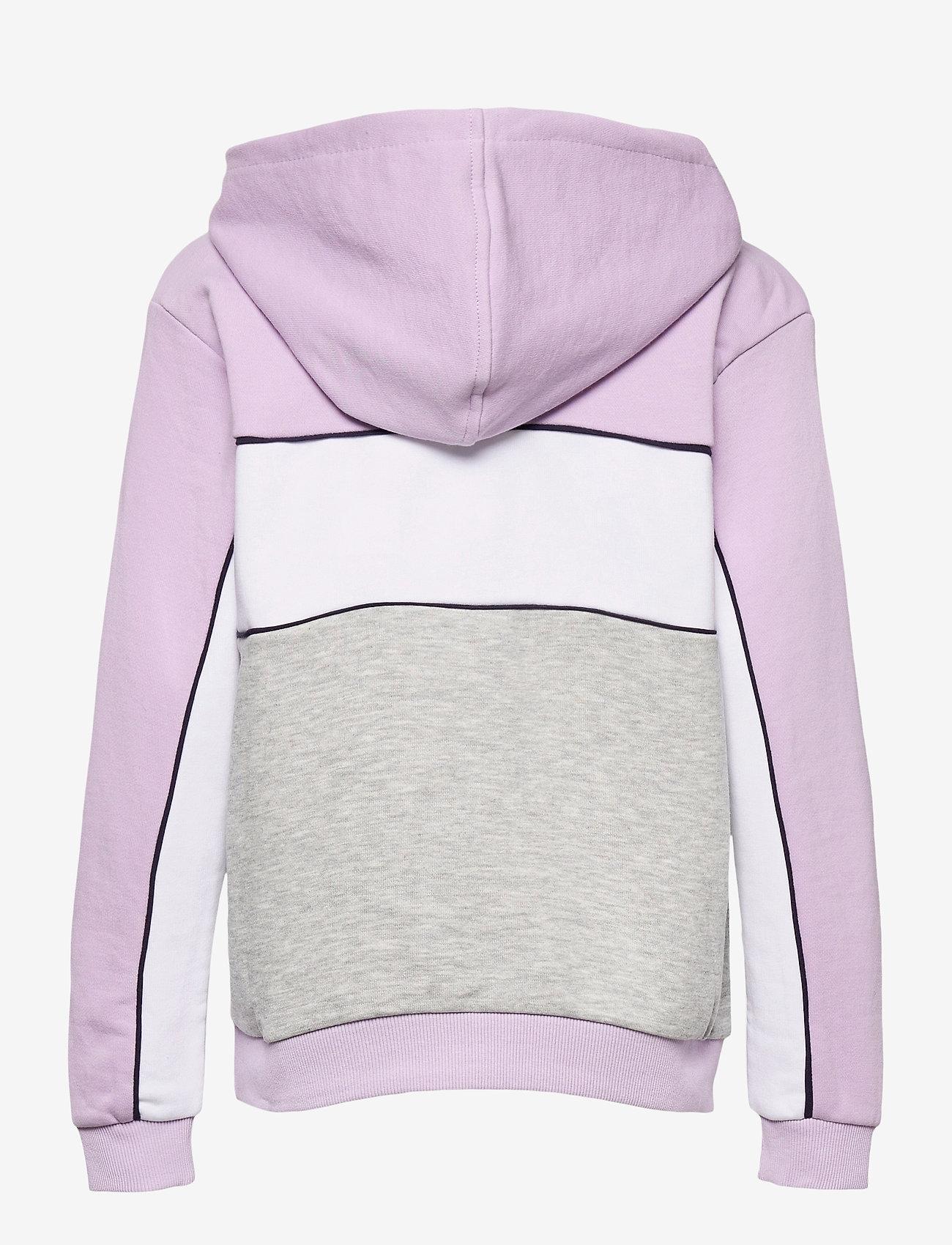 FILA - TEENS GIRLS TRACY hoody - hoodies - light grey melange bros-pastel lilac-brighte white - 1