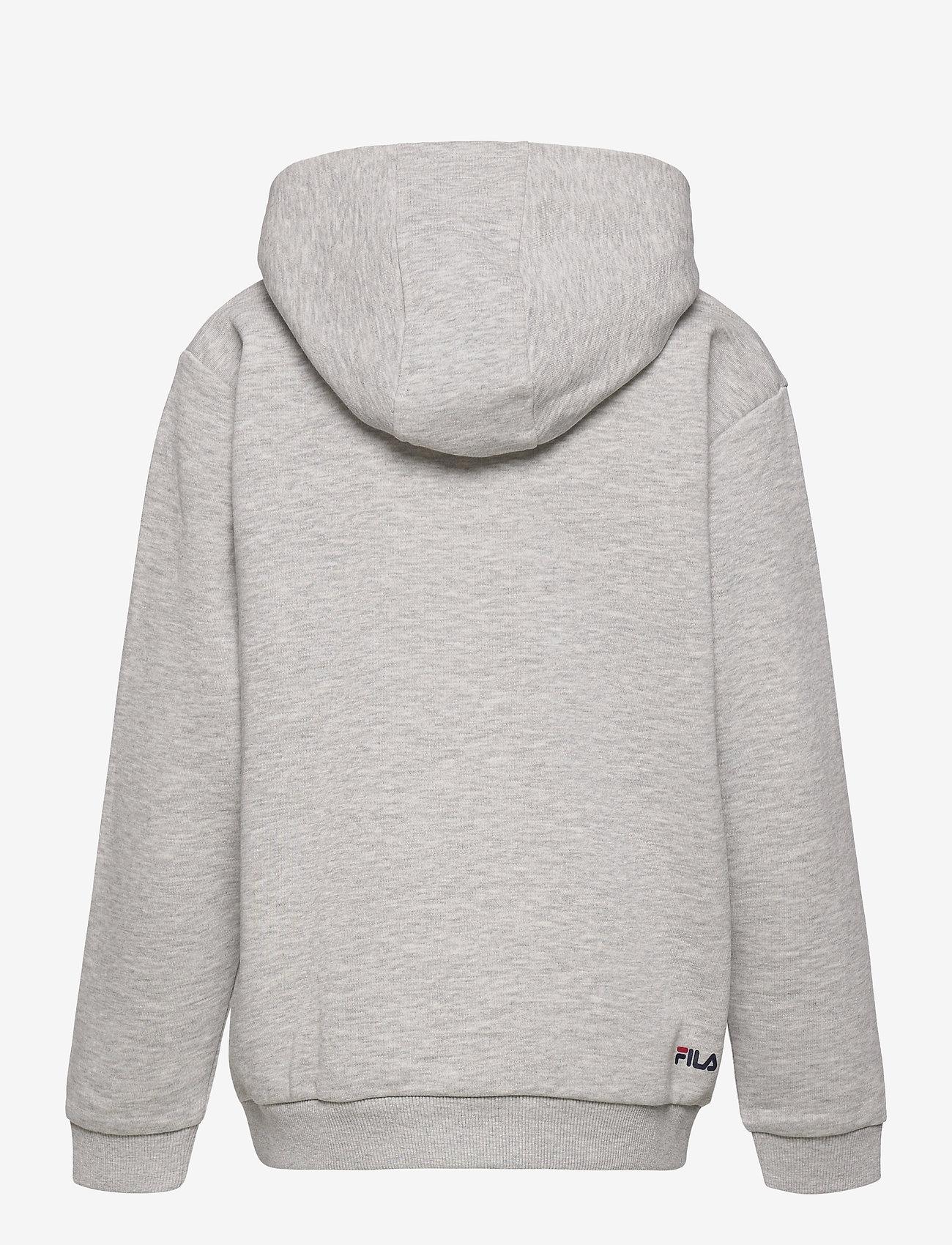 FILA - TEENS UNISEX ANDREY classic logo hoody - kapuzenpullover - light grey melange bros - 1