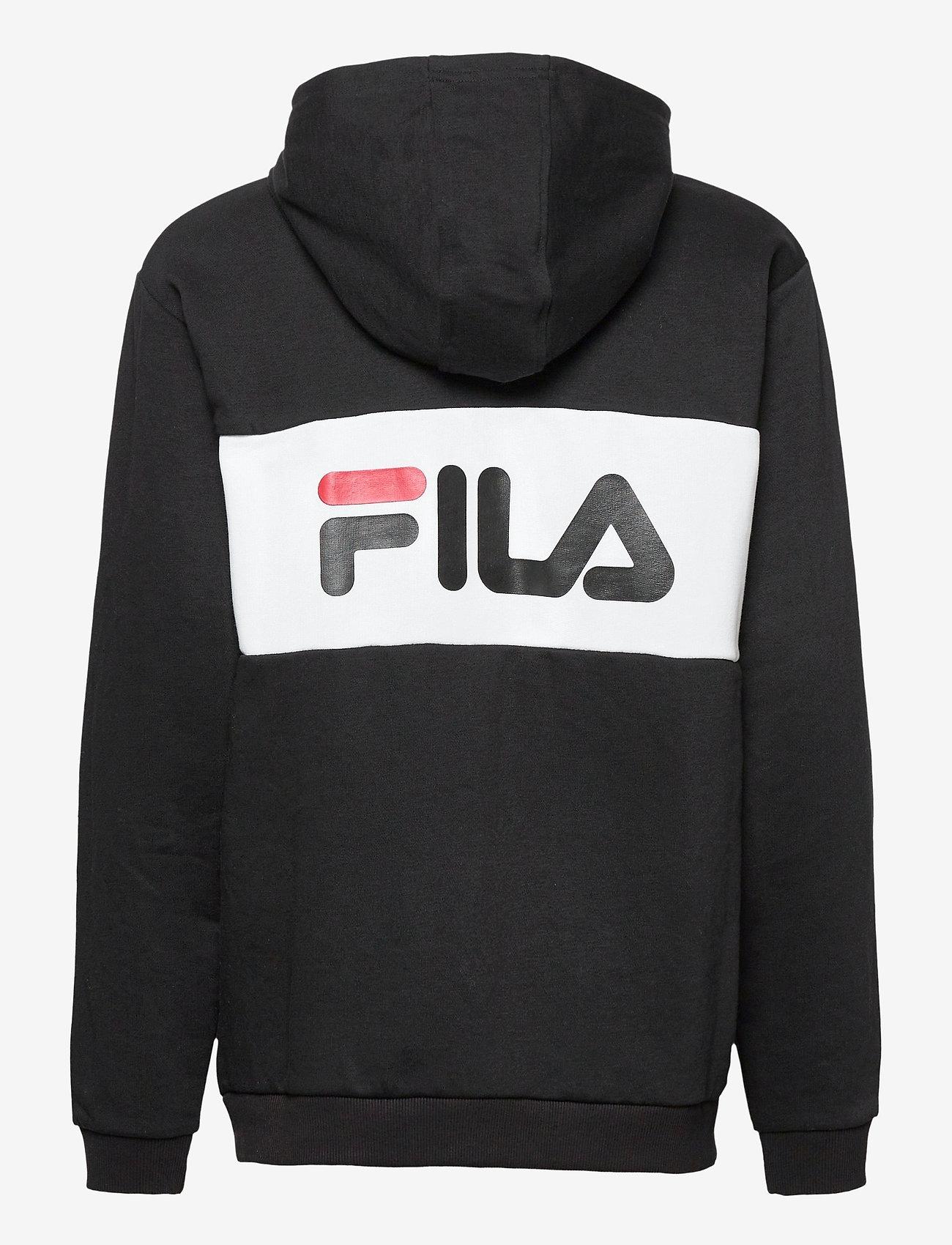 FILA - TEENS UNISEX NIKITA hooded zip jacket - hoodies - black-bright white - 1