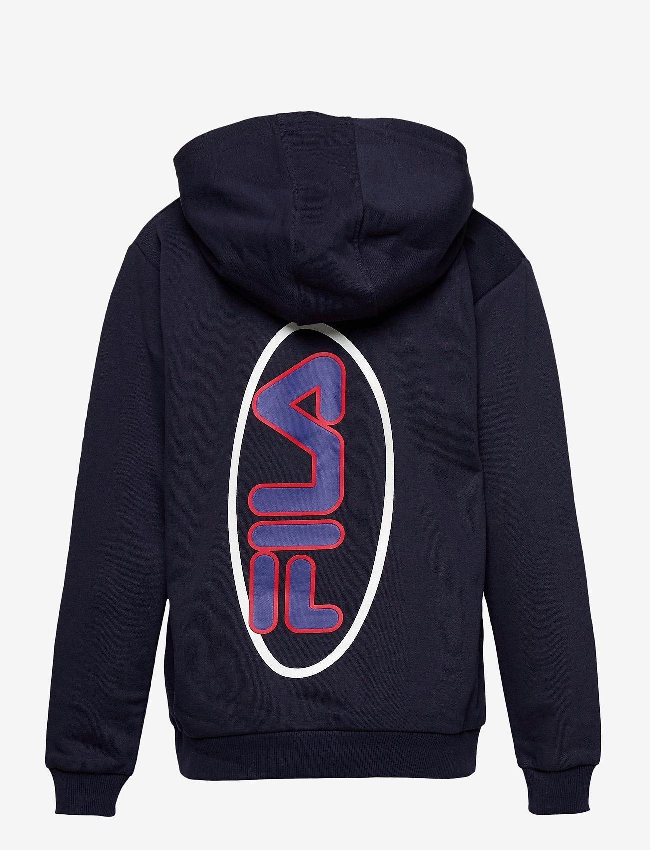 FILA - TEENS BOYS VITOR hoody - hoodies - black iris - 1
