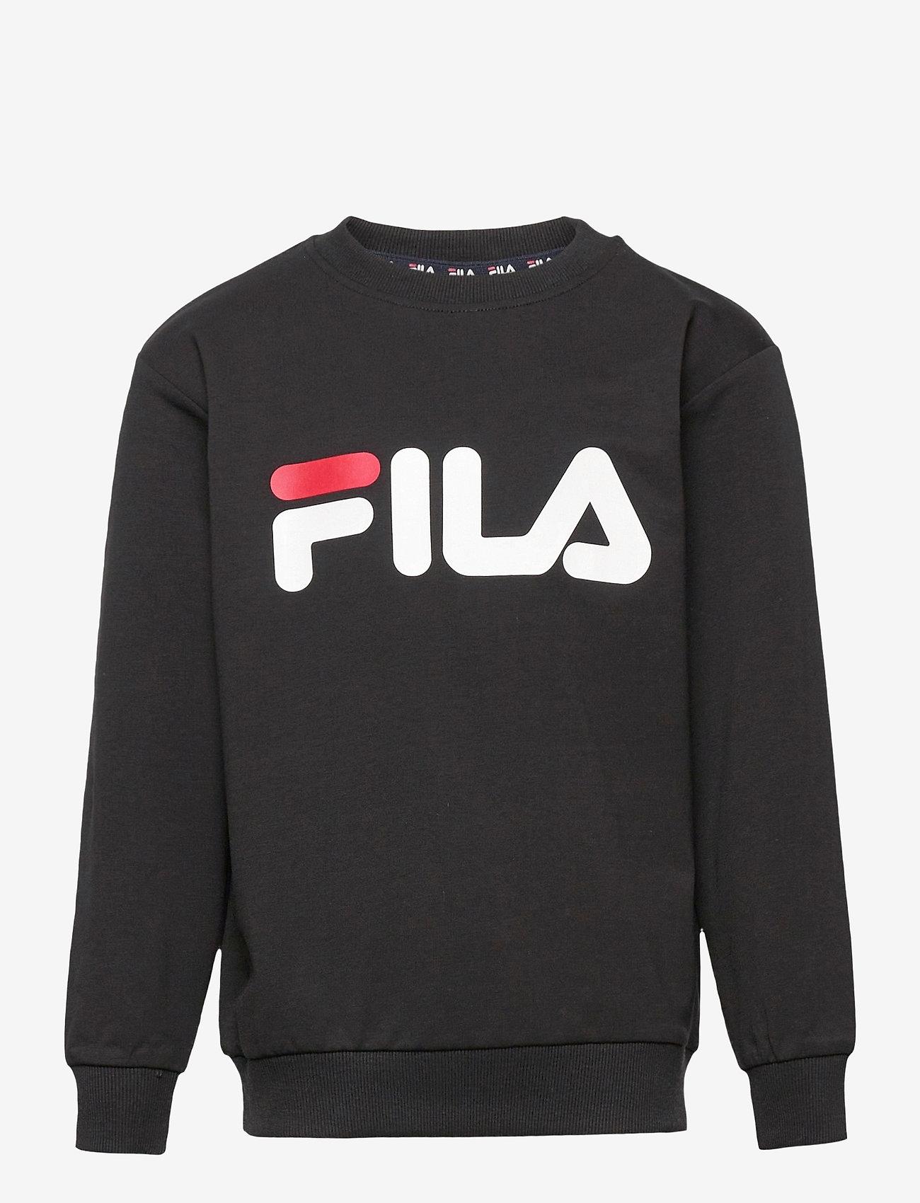 FILA - KIDS UNISEX TIM logo crew shirt - sweatshirts - black - 0