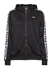 Women TEELA Track Hooded Zip - BLACK