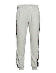 TADEO tape sweat pants - LIGHT GREY MELANGE
