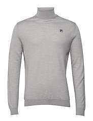 MEN Nelson Turtleneck Knit - GREY MELANGE
