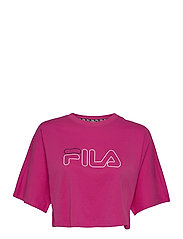 WOMEN JAMIELLE wide cropped tee - FUCHSIA PURPLE