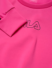 FILA - WOMEN EVELYN cropped shirt - crop tops - candy kiss-black - 4