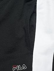 FILA - MEN LUI sweat pants - treenihousut - black-bright white - 4