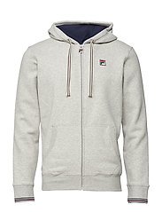 TENCONI ESSENTIAL HOODY WITH TIPPING AT - LIGHT GREY MELAGE