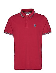 MATCHO 4 ESSENTIAL VINTAGE POLO WITH TIPPING - SANGRIA