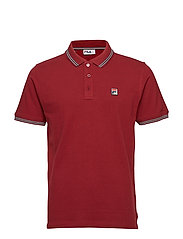 MATCHO 4 ESSENTIAL VINTAGE POLO WITH TIPPING - TIBETAN RED